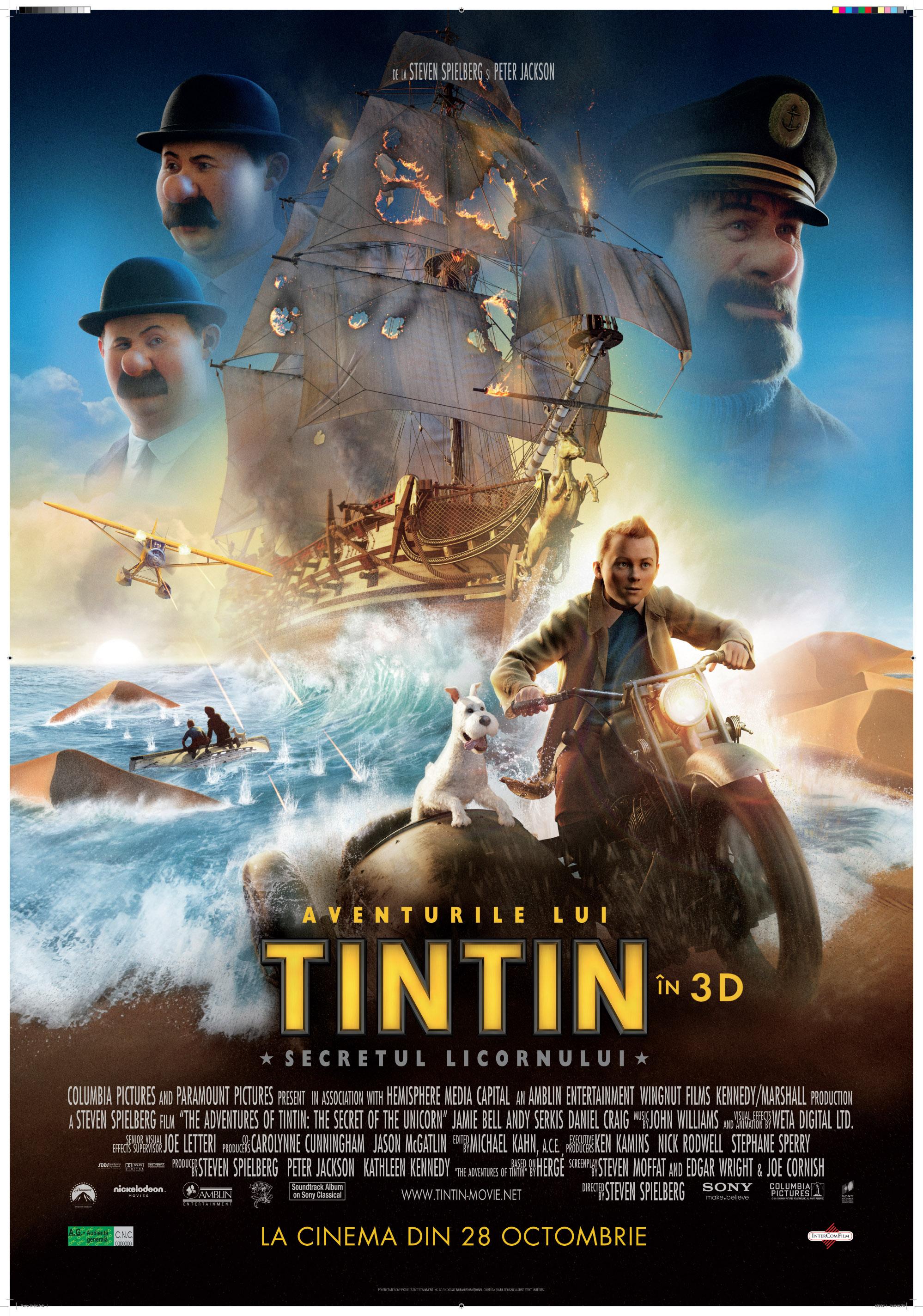 Te trimit la Aventurile lui TinTin in 3D la IMAX Cotroceni