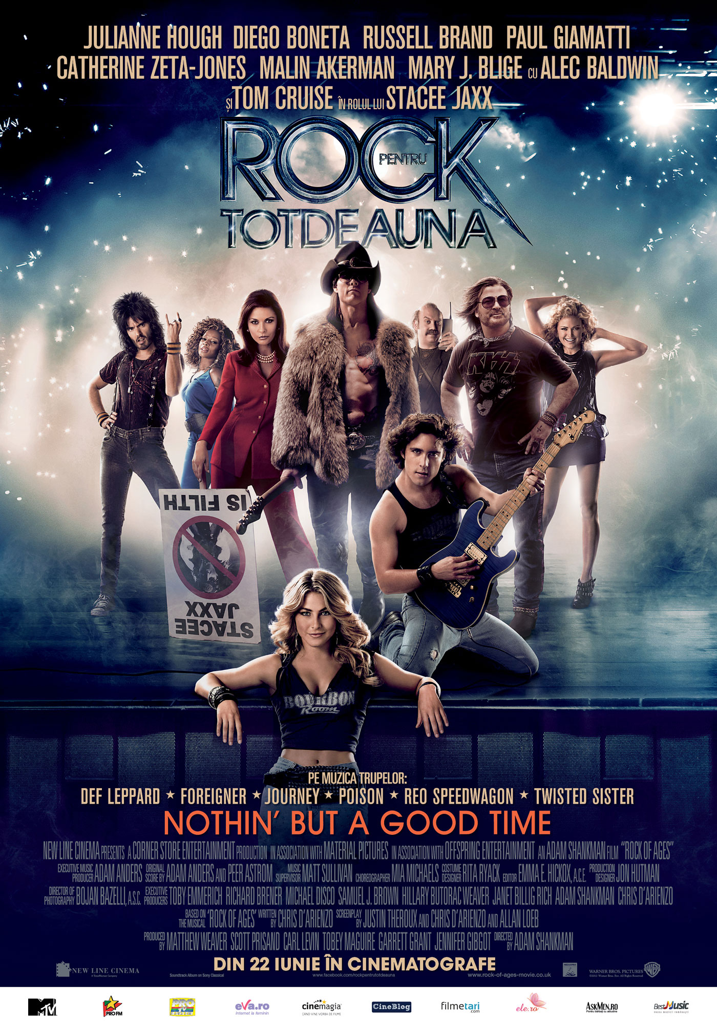 Rock of Ages (2012) – cu vedete, pe muzică rock