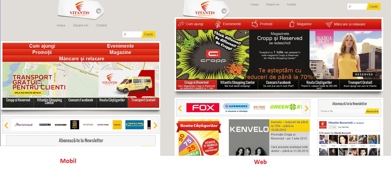 Responsive web în România – Vitantis.ro