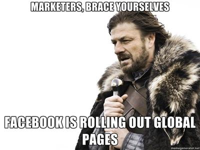 Paginile globale de brand pe Facebook – o greseala